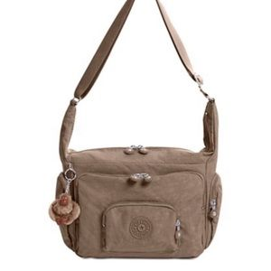 New Condition Tan Kipling bag over the shoulder